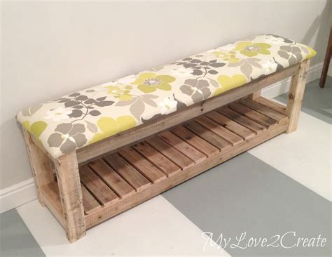 how to make a bench cushion diy upholstered bench my love 2 create