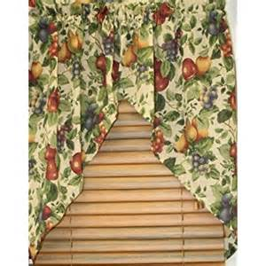 Fruit Kitchen Curtains by Amazon Com Sonoma Fruit Pattern Valance Curtains For