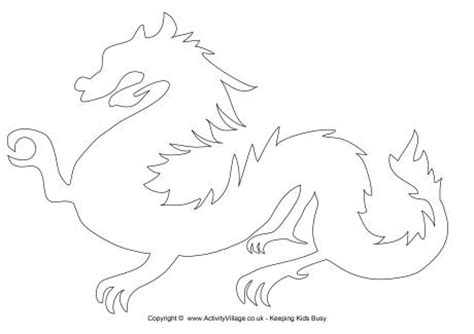 printable dragon templates chinese dragon template