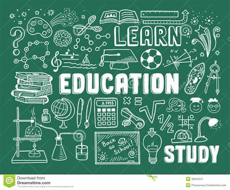 doodle learning education doodle elements stock image image 32504241