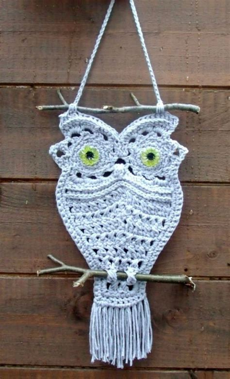 Macrame Crafts - macrame owls the whoot