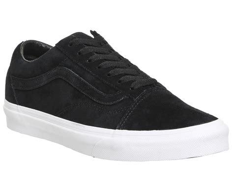 mens vans skool black suede true white trainers shoes