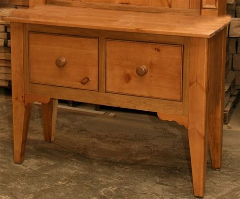 4 ft wide country sideboard w 2 large drawers french