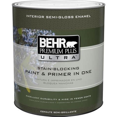 Behr Premium Plus Interior Semi Gloss Enamel behr premium plus ultra 1 qt base semi gloss enamel