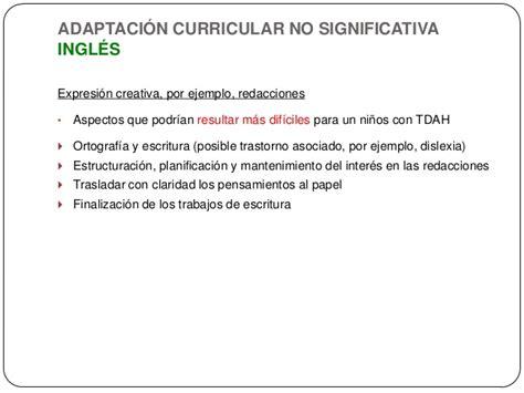 Modelo Adaptacion Curricular Significativa Ingles intervenci 243 n educativa tdah en el aula ordinaria