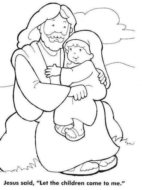 jesus coloring pages for toddlers jesus the children coloring pages coloring home
