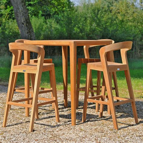 Teak Bar Table And Stools by Wildspirit Play Modern Exterior Bar Furniture Teak Bar