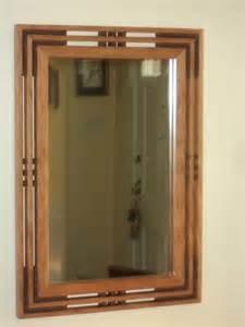 mission style bathroom mirror handcrafted arts crafts mission prairie style cherry mirror