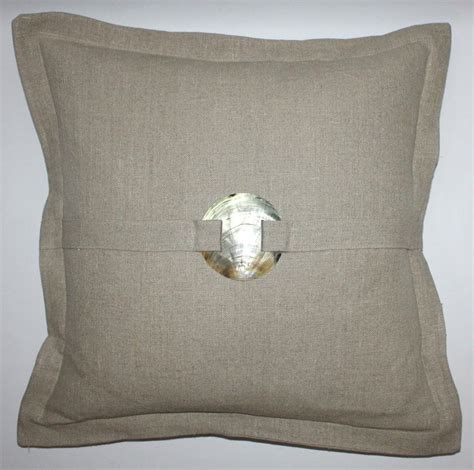 Of Pearl Pillow by Of Pearl Buckle Pillow In Navy White Gray Brown
