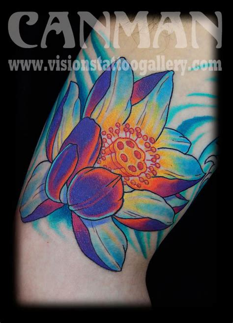 japanese lotus tattoo japanese lotus flower by canman tattoos