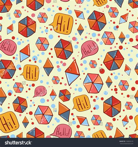pattern hipster vector hipster pattern with polygon and triangle stock vector