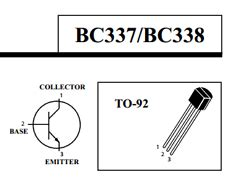 bc337 transistor substitute transistor bc337 pinout 28 images bc337 40 n p n transistor complementary pnp replacement