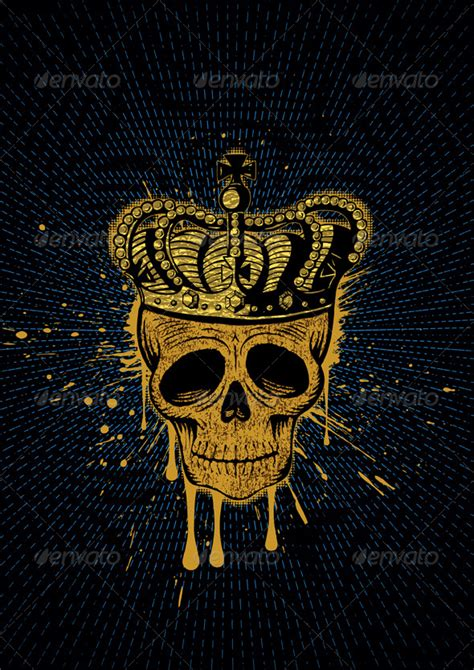 king s skull graphicriver