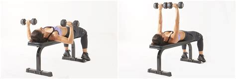 flat dumbell bench press how to build chest muscle at home with or without equipment