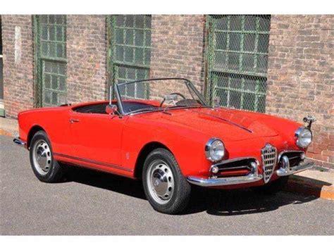 alfa romeo giulietta classic 1960 alfa romeo giulietta spider for sale classiccars