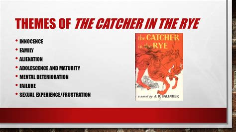 catcher in the rye chapter 17 themes what do you think this means ppt video online download