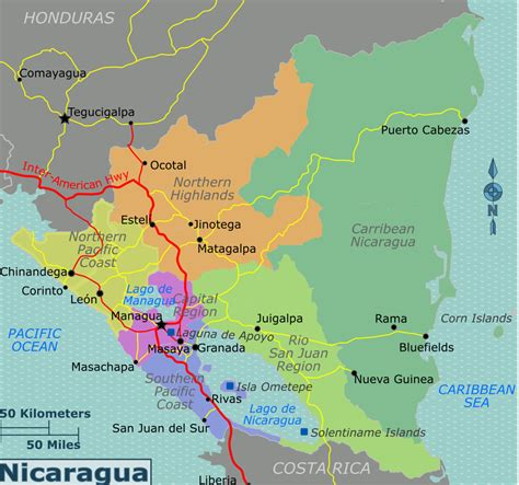 managua nicaragua map nicaragua travel guide at wikivoyage