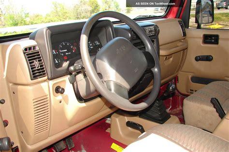 jeep wrangler maroon interior 1999 jeep wrangler sport 6 cyl 4 0liter 5 speed manual