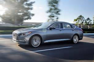 2015 Hyundai Genesis Pictures 2015 Hyundai Genesis Drivers Side View In Motion Photo 14