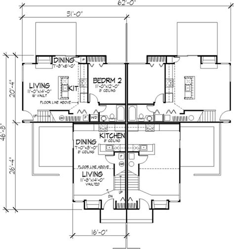 multi unit home plans multi unit house plans home design ls b 1801 21486