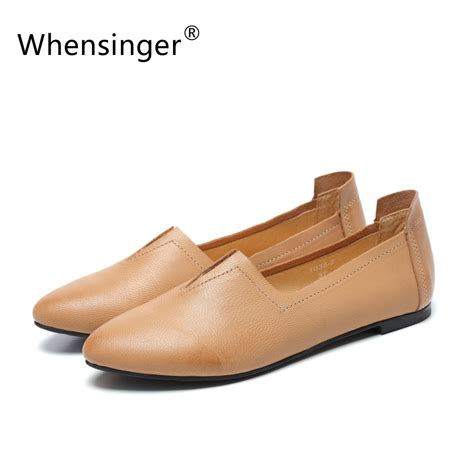 Whensinger 2017 Leather Shoes Handmade - get cheap pointe shoe aliexpress alibaba