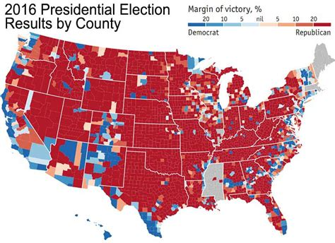 2016 presidential map 2016 presidential election results by county