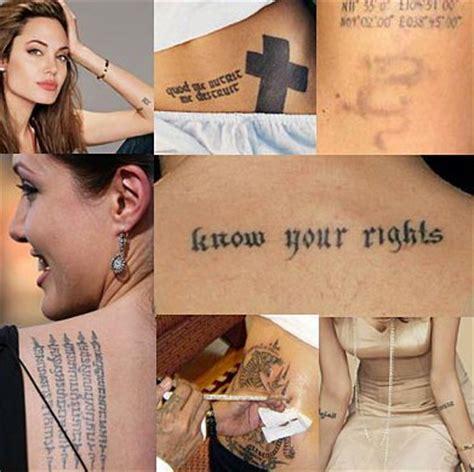 as tatuagens de angelina jolie tatuagem com tatuagens