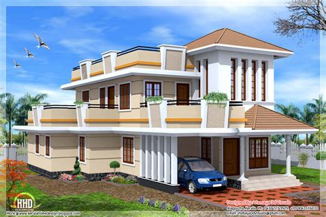 2 floor house 2326 sq 4 bedroom storey house kerala home design and floor plans