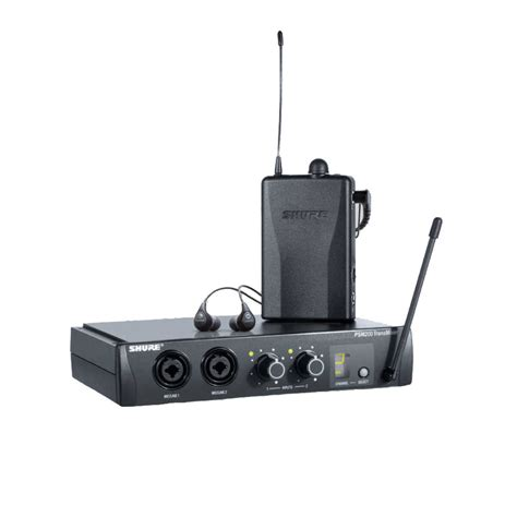 Ear Monitor shure psm200 wireless in ear monitor system with se112 earphones at gear4music