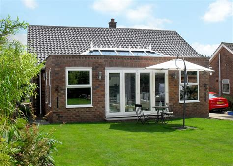 ultraframe veranda bluebell conservatories tile glass roof extensions