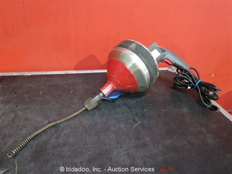 Used Plumbing Snake by Electric Eel Sani Rod Drill Powered Plumbing Sewer Drain Pipe Snake Auger Tool Ebay