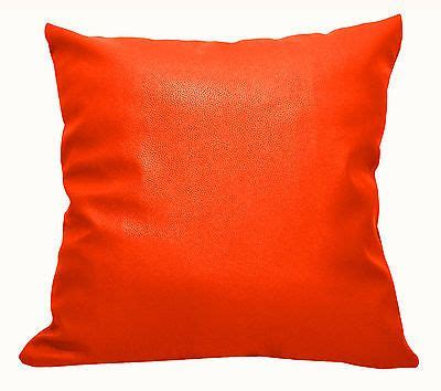 Bright Orange Pillow Cases by Ep316 Bright Orange Faux Leather Skin Pu Cushion Cover
