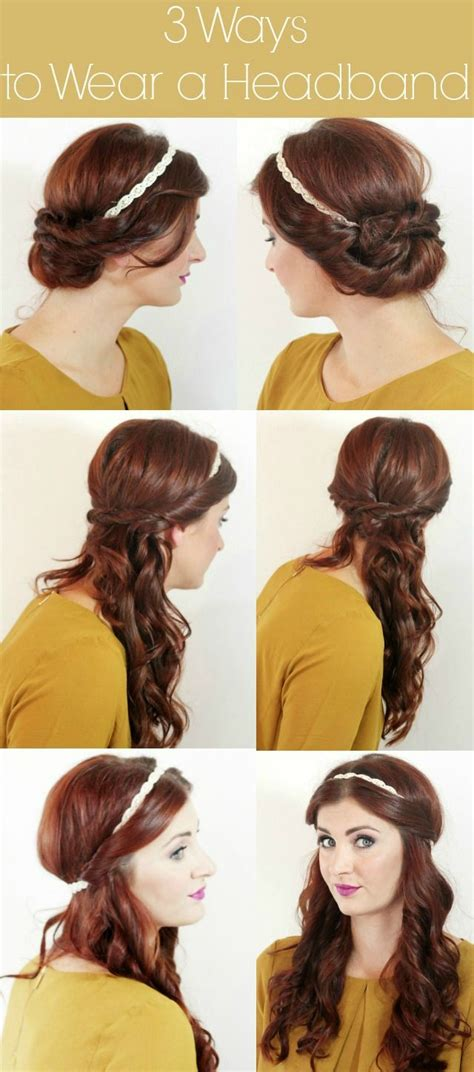 17 Wearing Headbands by 17 Best Ideas About Hairstyles With Headbands On