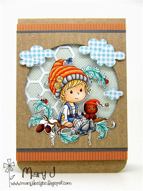 rubber sting cards ideas whimsy sts new wee sts called oak tree boy card