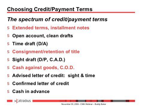 Sle Letter Of Credit Sight Draft Business Credit Risk Management