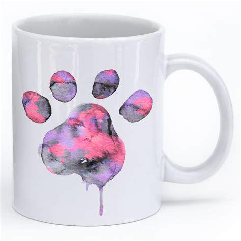 puppy mug watercolor paw mug iheartdogs