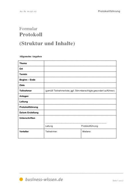 Vorlage Word Besprechungsprotokoll Protokoll Simultan Schreiben Formular Und Vorlage Business Wissen De
