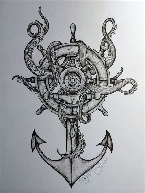 octopus anchor tattoo 25 best ideas about nautical sleeve on