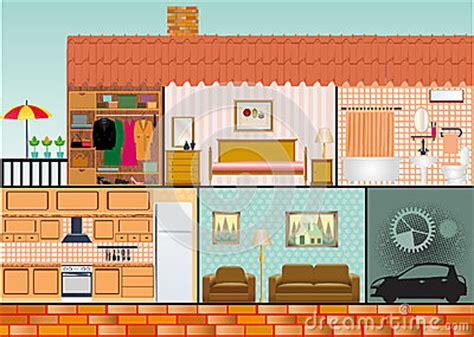 house interior cartoon cartoon family house stock vector image 51914830