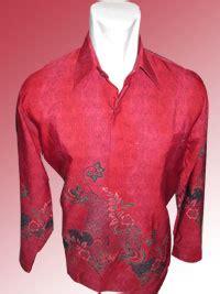 0441 16 Batik Baju Batik Cewek Warna Merah Produsen Seragam Batik 1 batik lengan panjang motif pola bunga simpel