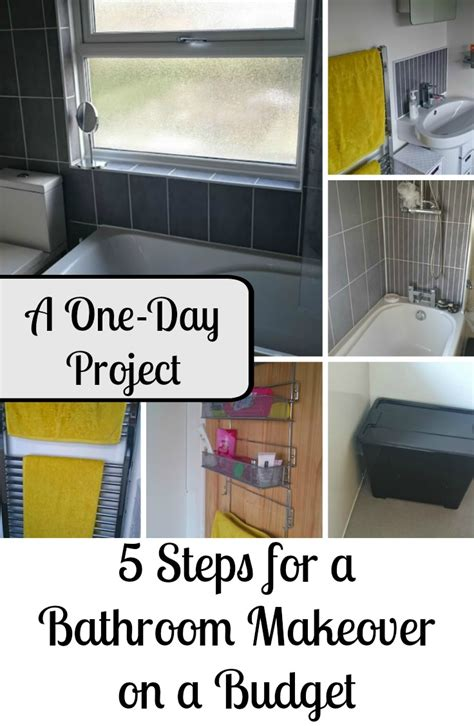 One Day Bathroom Makeover by 5 Steps For A One Day Bathroom Makeover On A Budget