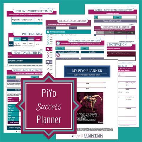 Piyo Plan Worksheet