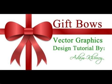 graphics design video tutorial christmas gift bow design tutorial vector graphics xmas