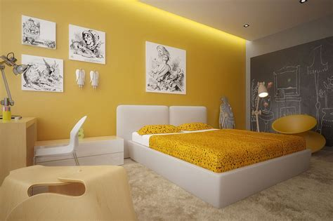 Yellow Color And Feng Shui For Your Bedroom My Decorative Colorful Bedroom Wall Designs