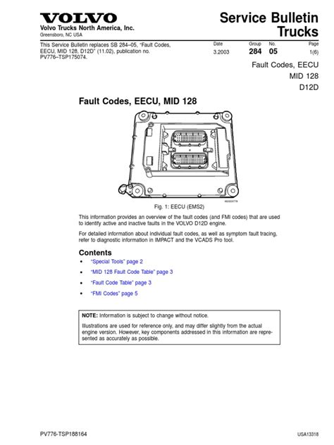 volvo d13 fault codes list cars gallery