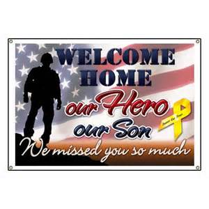 pics photos ideas for military welcome home banners