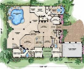 Territorial Style House Plans spanish style house plans 5841 square foot home 2