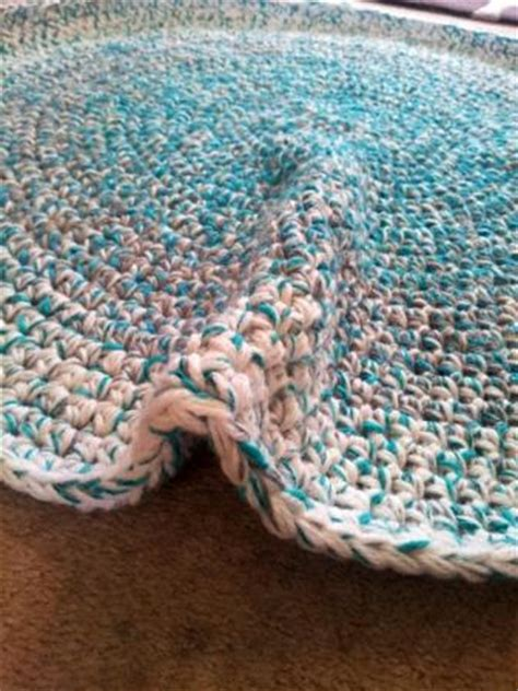 Learn How To Crochet A Round Rag Rug Look At What I Made How To Crochet A Rag Rug