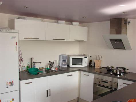 cuisine et decoration deco cuisine blanche et grise