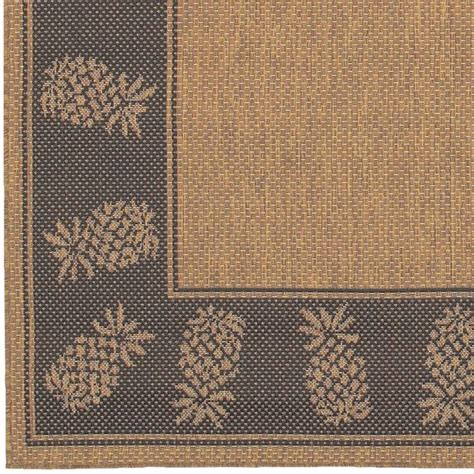 Pineapple Outdoor Rug Cocoa Black Pineapple Outdoor Rugs Home Infatuation